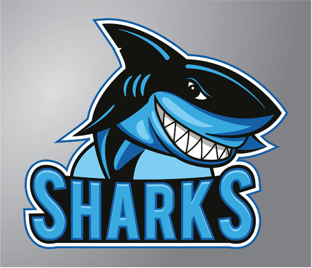 Sharks Mascot Illustration