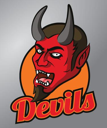 devil's: Devils mascot Illustration