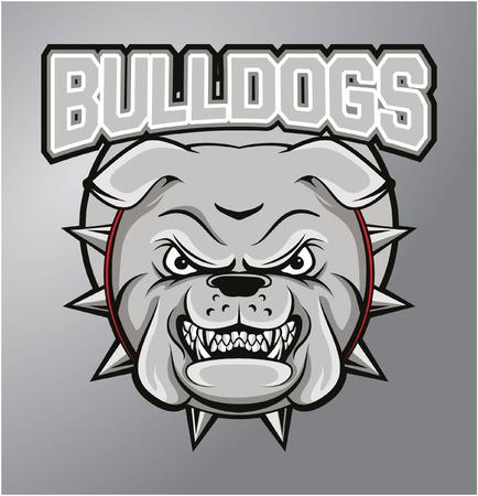 bulldog: Bulldogs mascota Vectores
