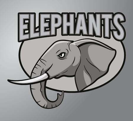 tusk: Elephants mascot