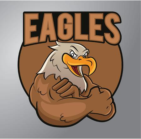aigle: Eagles mascotte