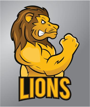 Leeuw mascotte Stock Illustratie