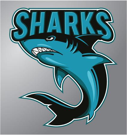 Haaien Mascot Stock Illustratie