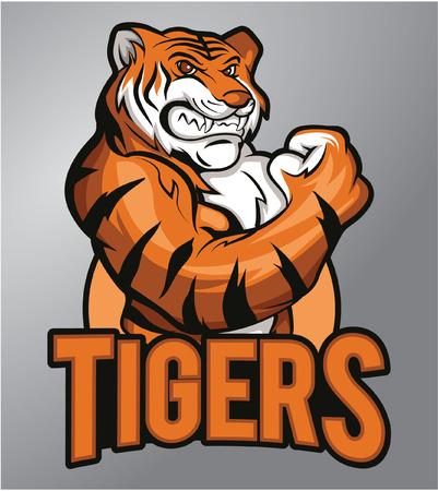 Tigers mascot Фото со стока - 40397436