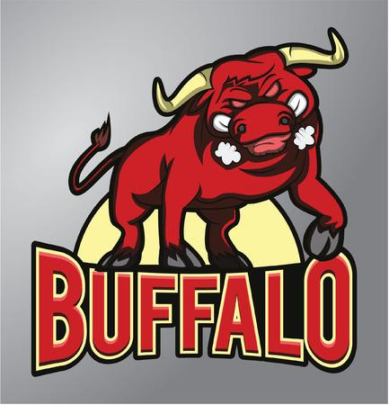Buffalo Mascot Vektorové ilustrace