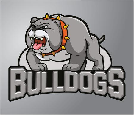 angry bull: Mascot Bull dog