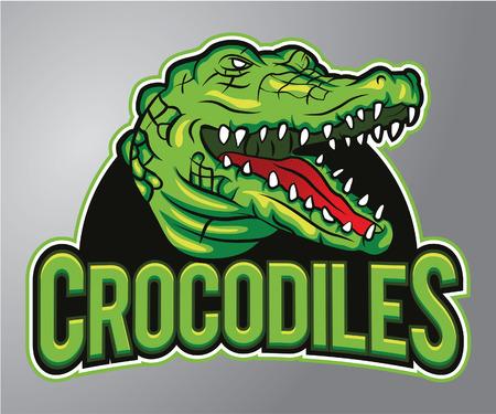tooth mascot: Crocodile mascot
