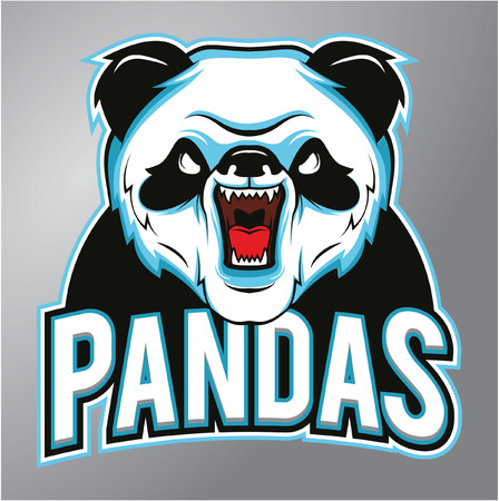 angry animal: Pandas mascot