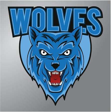 lobo feroz: Wolves Mascot Vectores