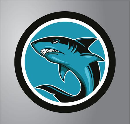 Sharks Circle sticker Vector