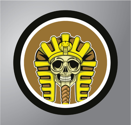 sphinx: Sphinx Circle sticker Illustration