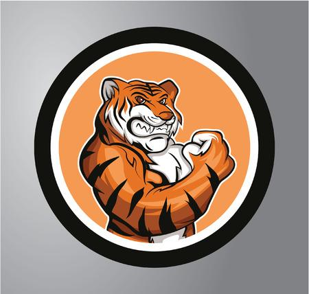 Tigers Circle sticker Illustration
