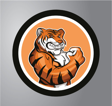 Tigers Circle sticker Illusztráció