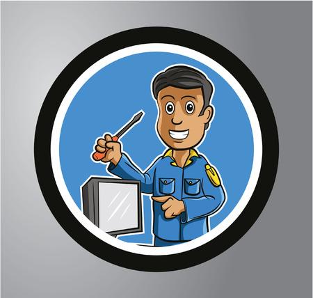 heating engineers: Technician Circle sticker