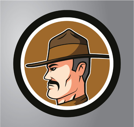 sherif: Sherrif Circle sticker