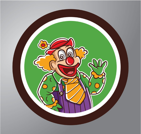 purim carnival party: Clowns Circle sticker