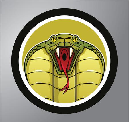 コブラ サークル ステッカー 写真素材 - 40622107