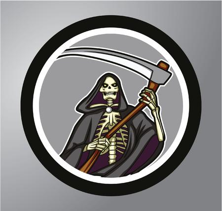 grim: Grim Reaper Circle sticker