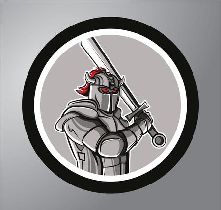 rycerz: Knights Koło naklejki