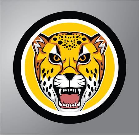 shape cub: Cheetah Circle sticker