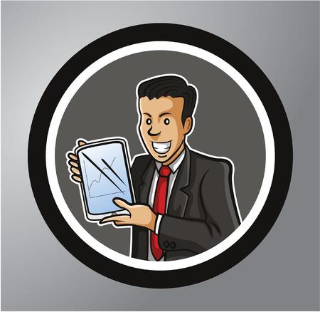 salesman: Salesman Circle sticker