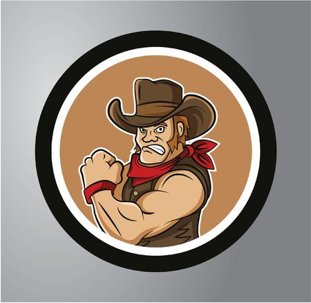 bandana western: Cowboys Circle sticker