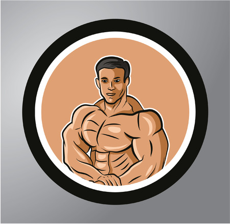 shape vector: Fitness Circle sticker