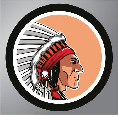 Pegatina Apache Círculo Foto de archivo - 40843694