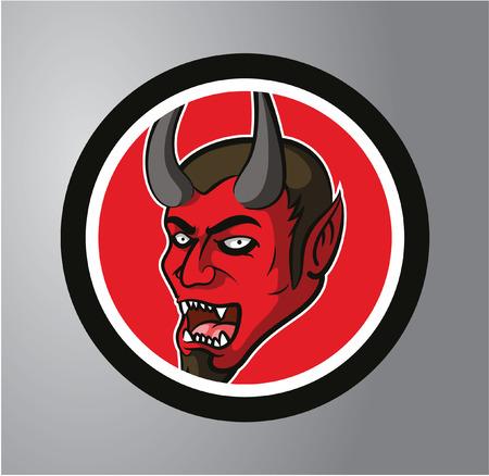devil horns: Devils Circle sticker