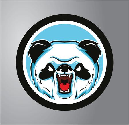 angry hand: Pandas Circle sticker