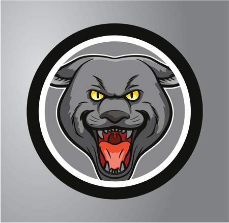 Panthers Circle sticker Vector