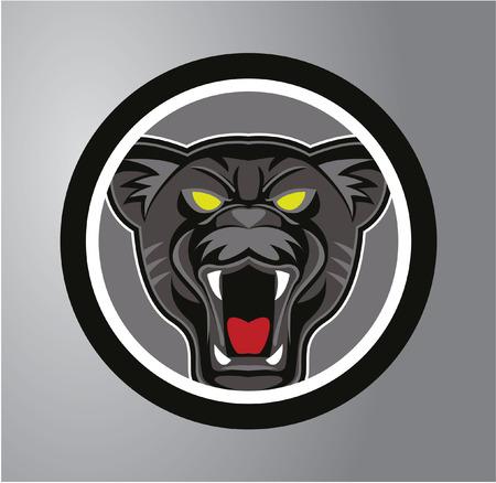 saber tooth: Panthers Circle sticker
