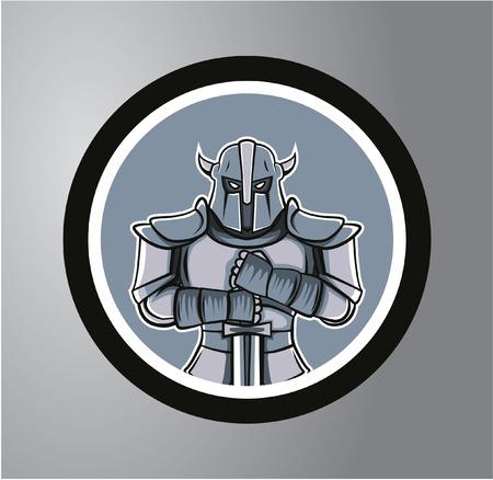 knight armor: Knights Circle sticker Illustration