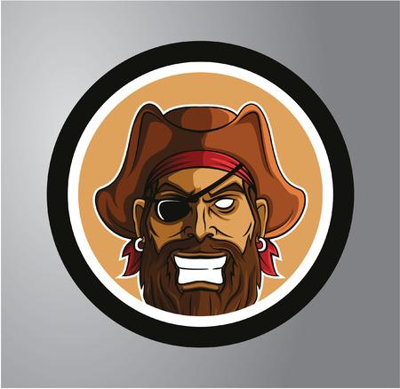 death cap: Pirates Circle sticker Illustration