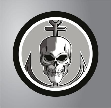 Sailor skull Circle sticker