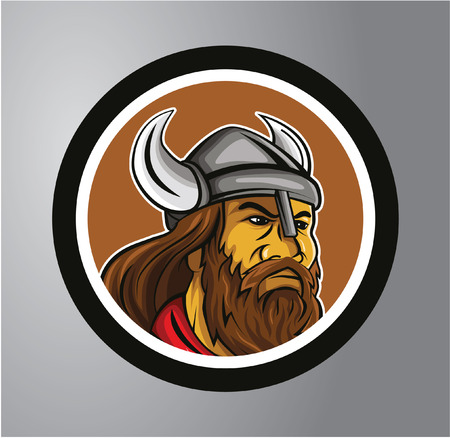 Vikings Circle sticker Vector