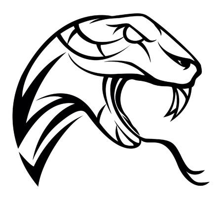 Snake symbol illustration