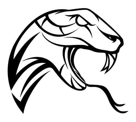 serpiente cobra: Serpiente símbolo ilustración