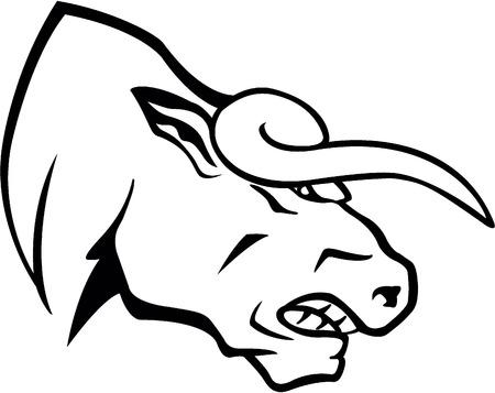 great danger: Bull head Illustration