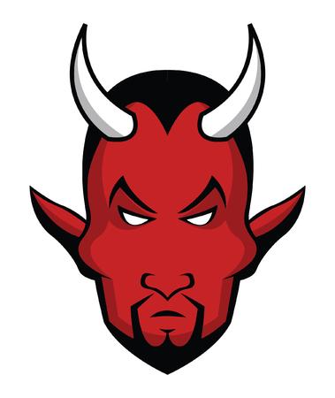 satan: La cabeza del diablo Vectores