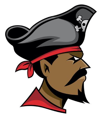 cartoon hat: Pirate head Illustration