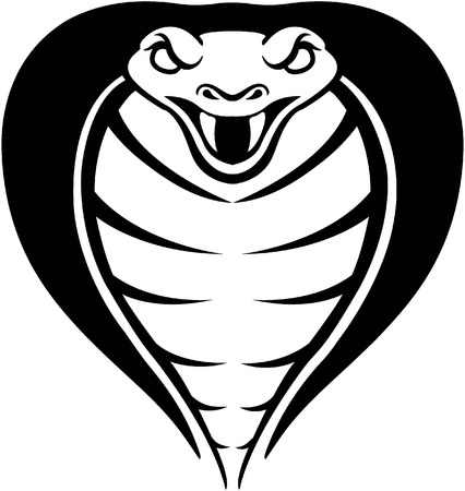 serpiente cobra: Cabeza de serpiente de la cobra Vectores