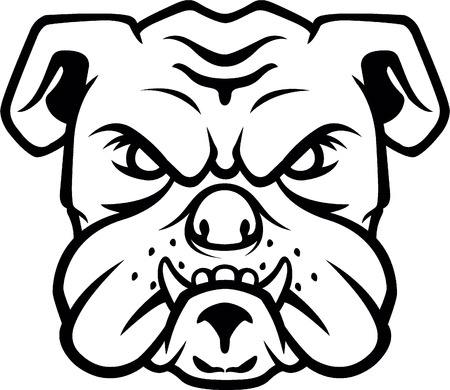 Bulldog head symbol Stock Vector - 46553082