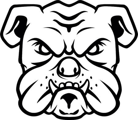 bulldog: Bulldog símbolo de la cabeza Vectores