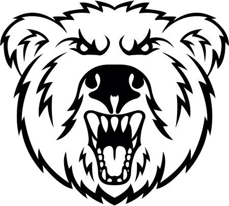 oso: Angry símbolo de la cabeza del oso
