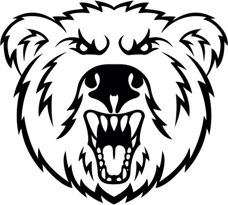 grizzly: Angry symbole de Bear Head