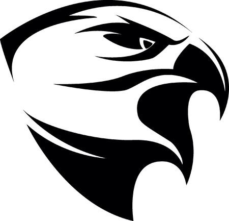 flying falcon: Eagle symbol illustration