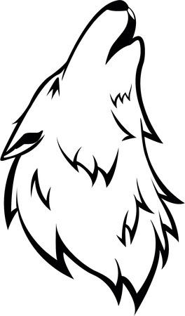 Howling Wolf Symbol Illustration