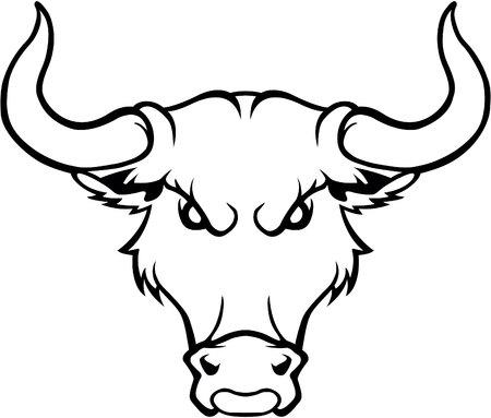 Bull symbol illustration
