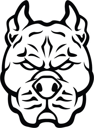 Strong dog symbol illustration Illustration